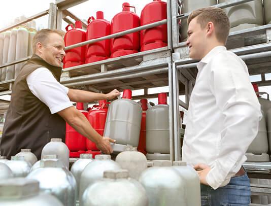 Beratung Verkauf Gasflasche Händler