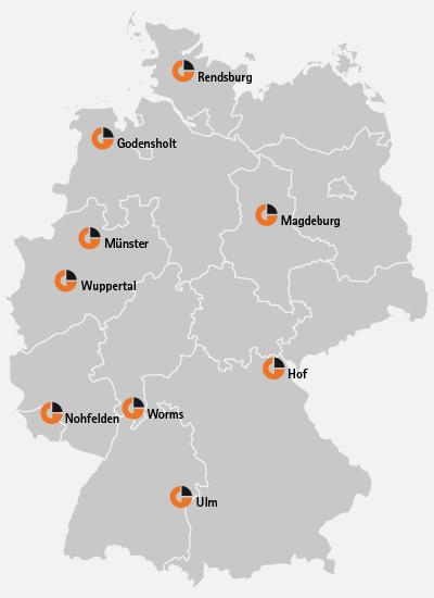 GlobalGas mit mehreren Standorten in Deutschland.