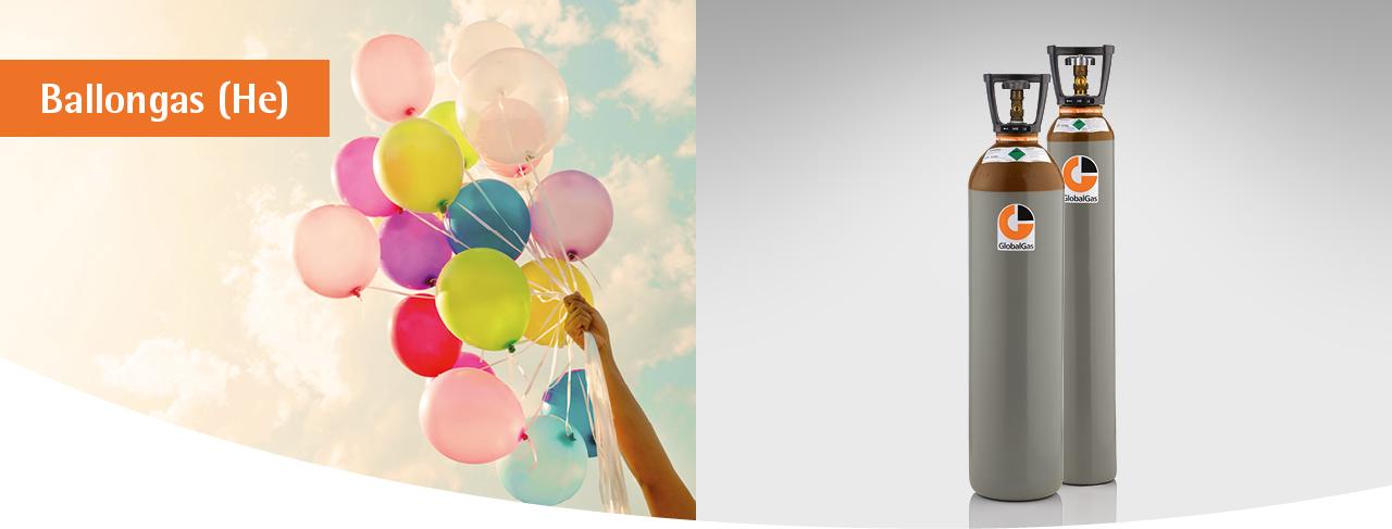 GlobalGas Gasflasche mit Ballongas Helium für Luftballons.