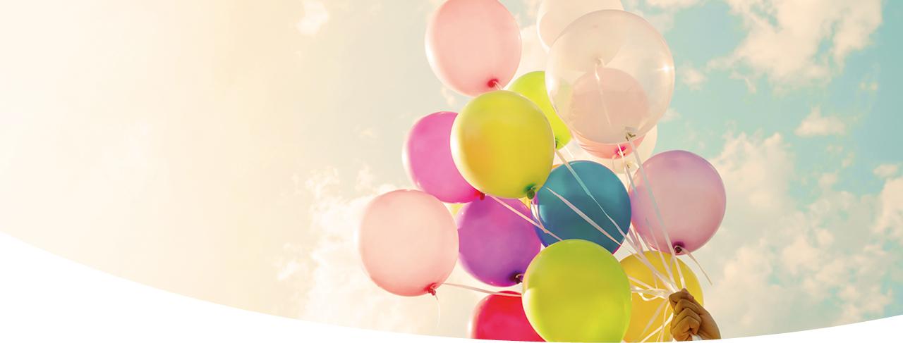Mit GlobalGas Ballongas Luftballons füllen.