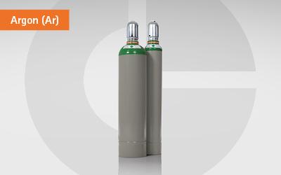 Argon-Gas für handwerkliche Tätigkeiten in zwei unterschiedlichen Größen.