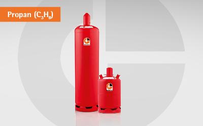 GlobalGas Propan C3H8 in der Nutzungsflasche.
