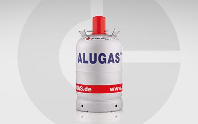 Einzelansicht GlobalGas Gasflasche Einzelflasche Alugas Grillgas C3H8.