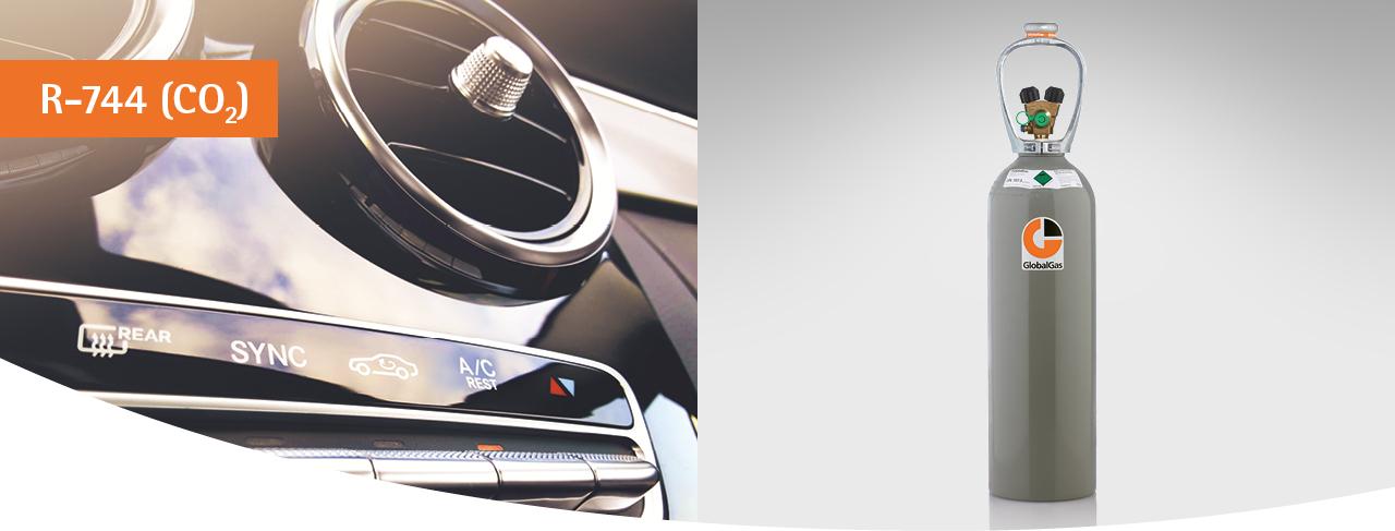GlobalGas Kältemittel R-744 (Kohlendioxid 4.5) ist das natürliche Ersatzprodukt für das Kältemittel R-134a in der Kraftfahrzeugklimatisierung. Aufgrund des geringen GWP-Wertes von 1 darf das Kältemittel R-744 auch zukünftig in Fahrzeugen eingesetzt werden. Nur Personen mit einer Sachkundebescheinigung für Tätigkeiten an Klimaanlagen in Kraftfahrzeugen dürfen das Kältemittel R-744 verwenden.