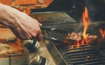 Steak auf dem Gasgrill